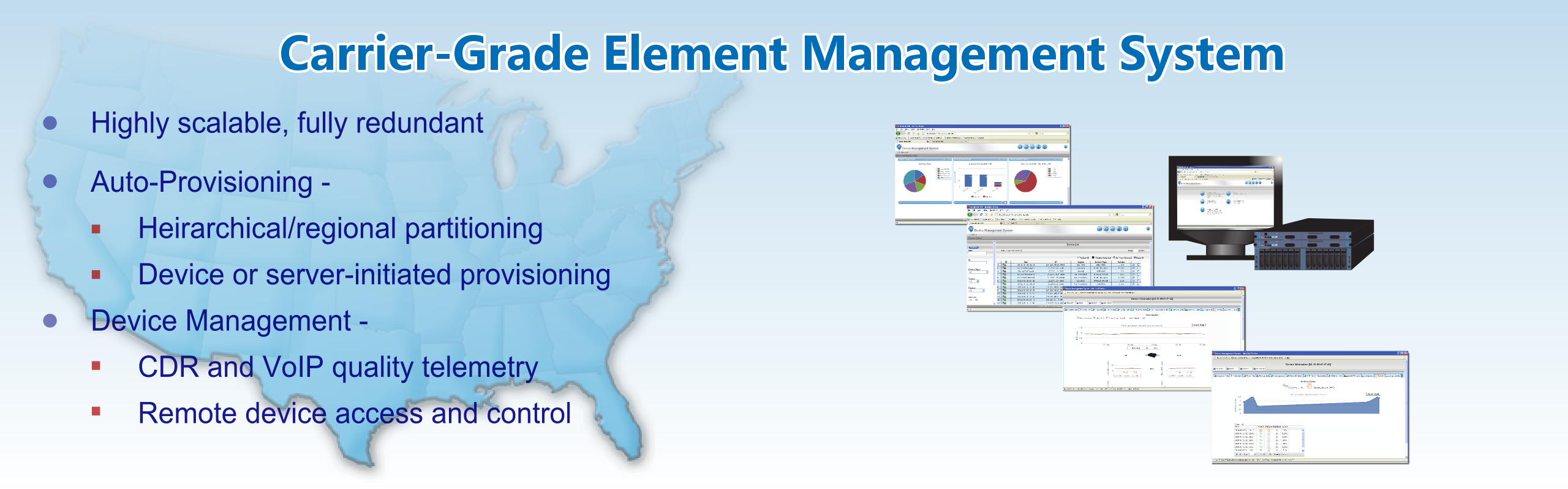 Carrier-Grade Element Management System