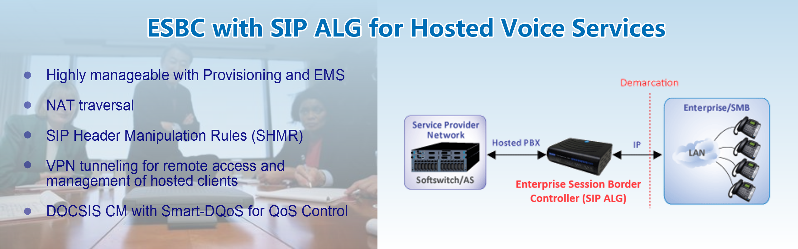 ESBC with SIP ALG for Hosted Voice Services