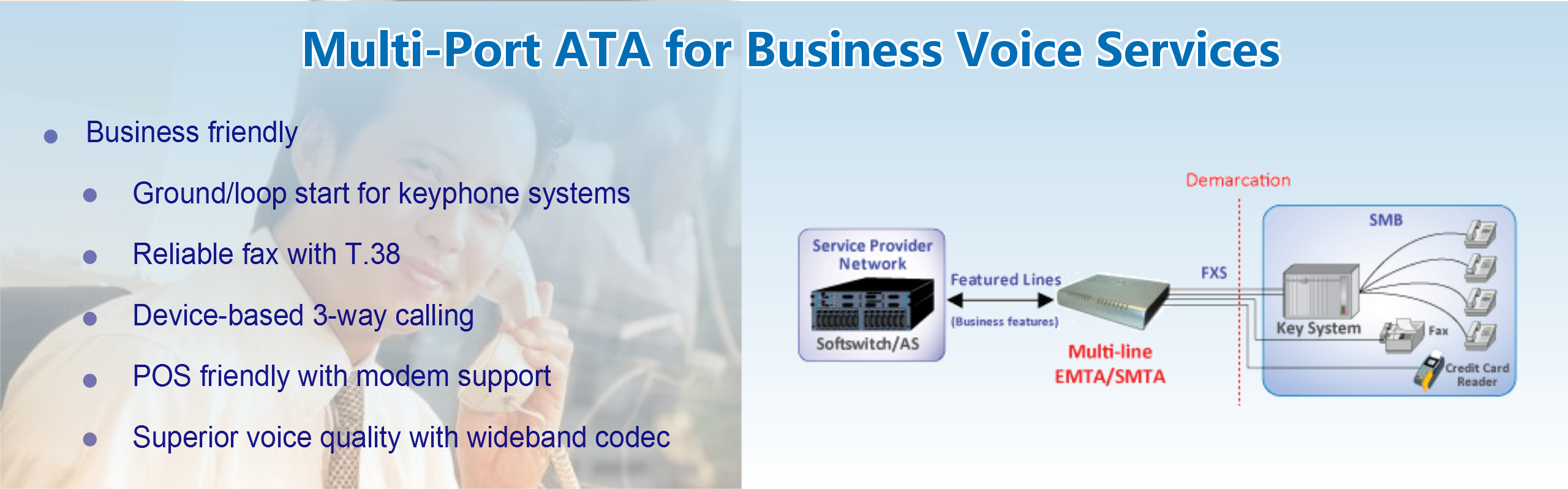 Multi-Port ATA for Business Voice Services