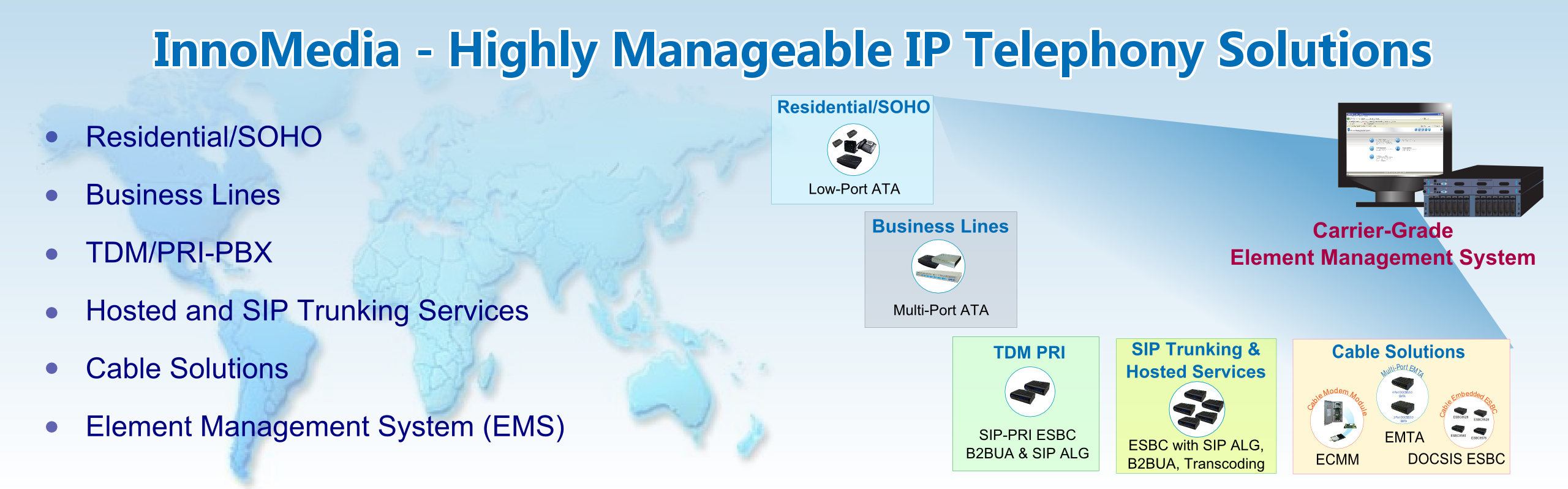 InnoMedia – Highly Manageable IP Telephony Solutions