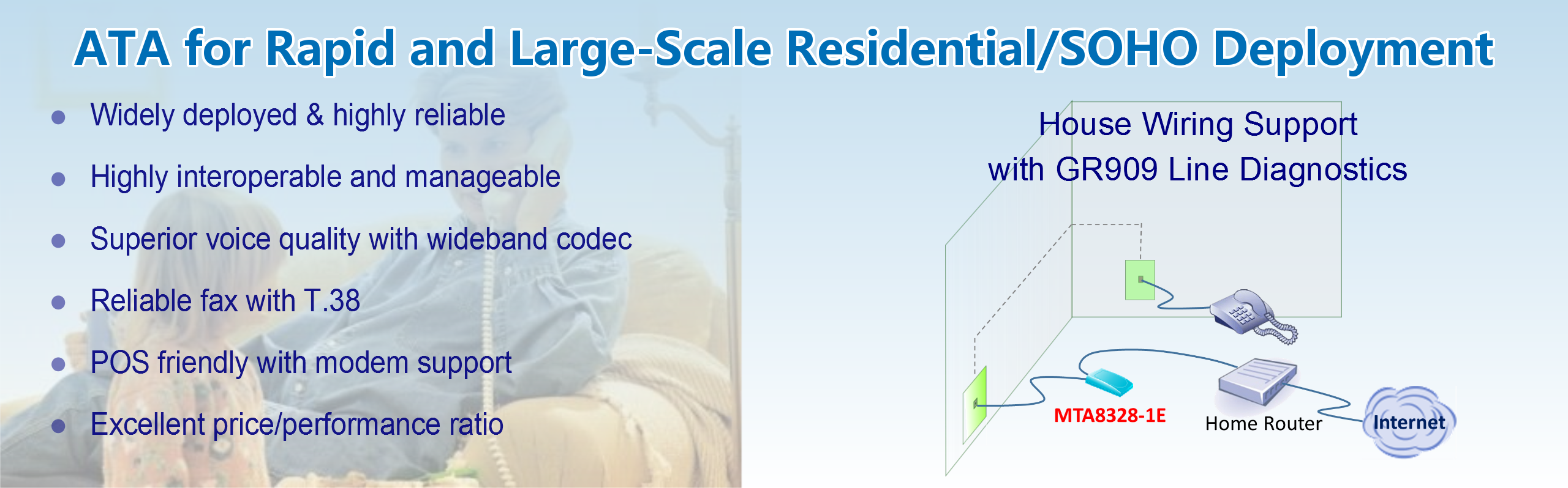 ATA for Rapid and Large-Scale Residential/SOHO Deployment