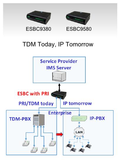 ESBC for TDM-PRI